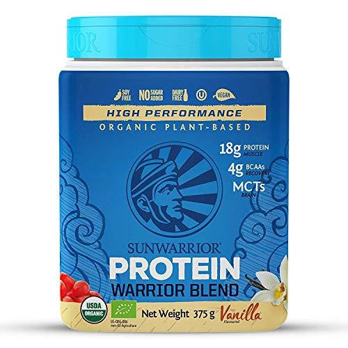 Sunwarrior Organic Plant Based Blend Vanilla Protein Powder, 375 g