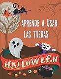 Halloween Aprende a usar las tijeras: Cuaderno de trabajo de Halloween para cortar y pegar, una actividad divertida para que los niños de preescolar ... de la práctica de cortar, pegar y colorear