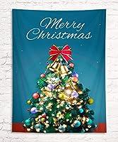 LB クリスマス タペストリー クリスマスツリー 飾り3 おしゃれ壁掛け 装飾布 欧米風 インテリア 多機能 リビング パーティー用 イベント用 お店 個性ギフト 人気 お祝い 100x150cm …