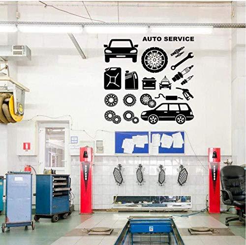 Muurstickers Art Decal Vinyl Murals Auto Service Banden Reparatie Auto Wassen Auto Raam Handgemaakte DIY Waterdicht 42X41cm