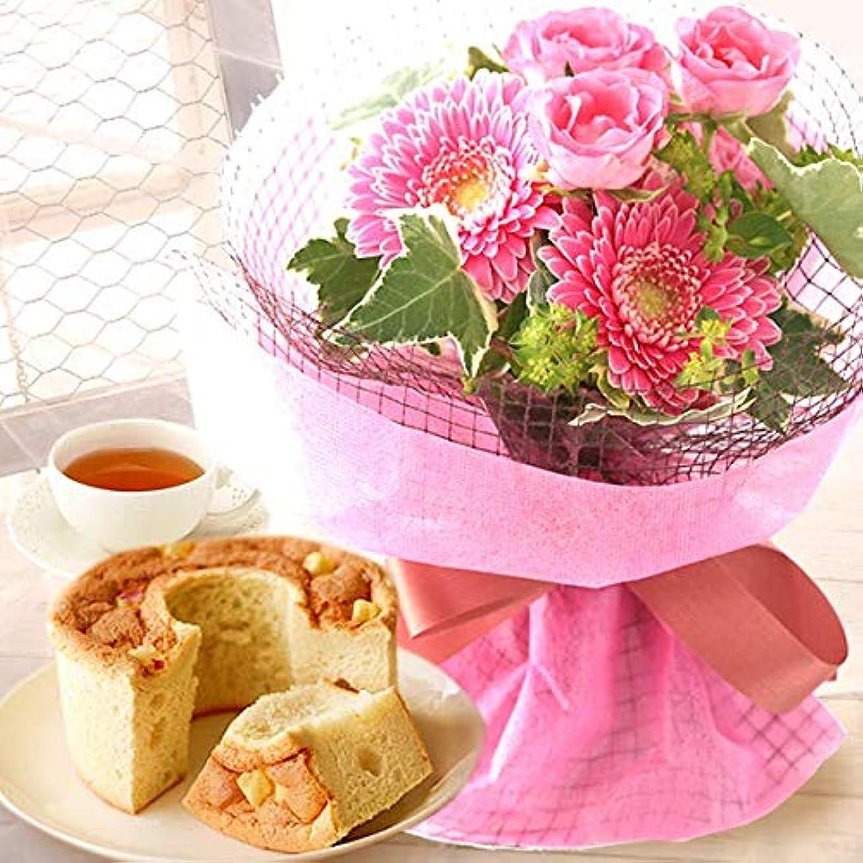 酸度カウント疑い誕生日 プレゼント ギフト 花とスイーツ 花ギフトセット 花束アレンジフラワー (ピンク)
