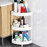 Heqianqian Carros de almacenamiento de cocina de 3/4/5 niveles para el hogar o la cocina, soporte para carrito de almacenamiento con ruedas (tamaño: 4 capas; color: blanco)