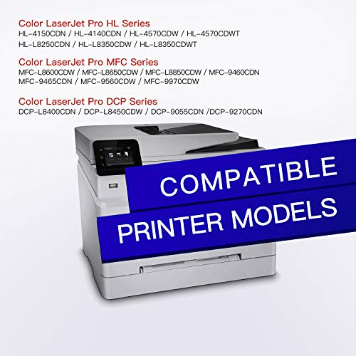 GPC Image Compatible Toner Cartridge Replacement for Brother TN433 TN 433 to use with HL-L8360CDW MFC-L8900CDW HL-L8360CDWT HL-L8260CDW MFCL8610CDW MFCL9570CDW Color Laser All-in-One Printer (4 Pack)