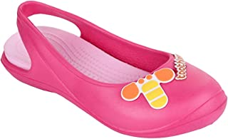 Hopscotch Toothless by Purple United Girls EVA Kids Bee Applique Clogs in Pink Color