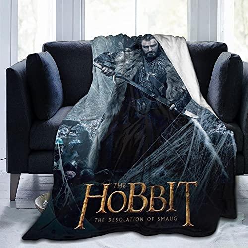 Smaug The Hobbit, atemberaubende Fantasie-Figuren, Bilbo Baggins, Plüsch-Überwurf, Decke, superweich, flauschig, weich, flauschig, warm, Mikrofaser