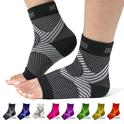 Foot Compression Sleeve Open Toe Compression Socks Women Planter Fasciated Brace Compression Sock Night Splint For Plantar Fasciitis Women Achilles Tendonitis Brace For Women Black L-XL