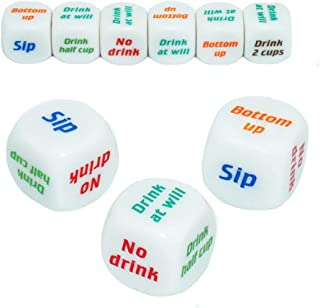 3PCS Drinking Dice Game Rolling Decider Bachelorette Party Drunk Frenzy KTV Party Family Friends Gathering Game Bar Pub Adult Favor Toys
