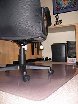 Clear Chair Mats for Carpeted Floors Premium Thickness 1//5 48 x 96 Rectangle