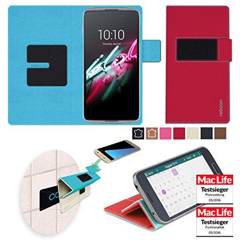 reboon Hülle für Alcatel OneTouch Idol 3 (5.5) Tasche Cover Case Bumper | Rot | Testsieger