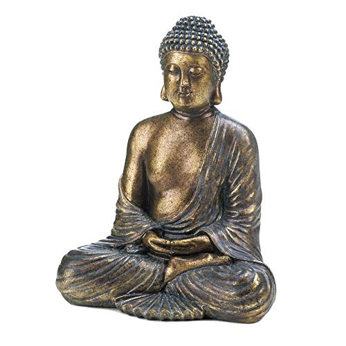 Accent Plus Sitting Buddha Statue 9.5x6.25x11.75
