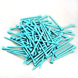 MYKUJA Bamboo Golf Tee 3-1/4 inch Pack of 100 (83mm Light Blue)