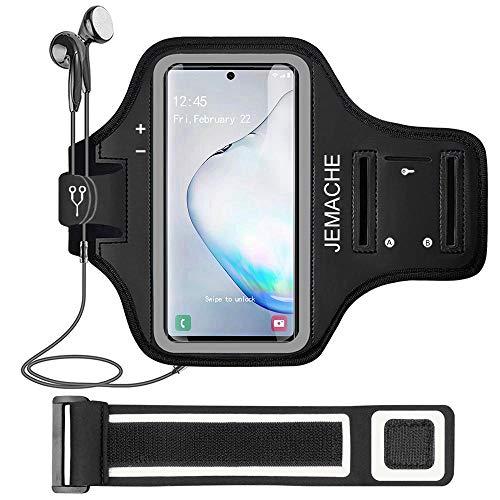 Galaxy Note 10+/9/8 Armbänder, JEMACHE Gym Laufen Übung Workouts Arm Band Case für Samsung Galaxy Note 8 9 10 Plus mit Schlüssel Halter (Schwarz)