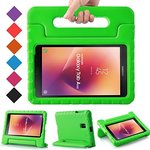 BMOUO Kids Case for Samsung Galaxy Tab A 8.0 2017 (SM-T385 / T380) - Light Weight Shockproof Protective Handle Stand Kids Case Cover for Samsung Galaxy Tab A 8.0 inch 2017 T380 T385 Tablet - Green