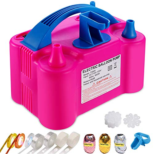 95 Pcs Electric Air Balloon Pump and Balloon Tying Tool in One,110V Electric Balloon Pump Garland Arch Kit for Party Decoration Faster and Save Time