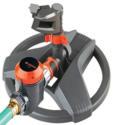 Gardena 69-8142 Impulse Sprinkler with Timer on Weighted Sled Base