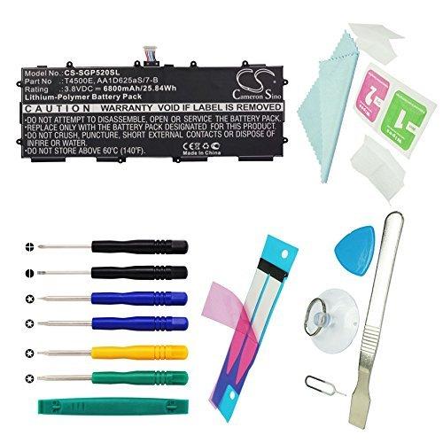 CS Tablet Akku Li-Polymer 6800mAh passend für Samsung GT-P5210, GT-P5200, GT-P5220, Galaxy Tab 3 10.1, ersetzt Samsung AA1D625aS/7-B, T4500E Mit Werkzeugsatz
