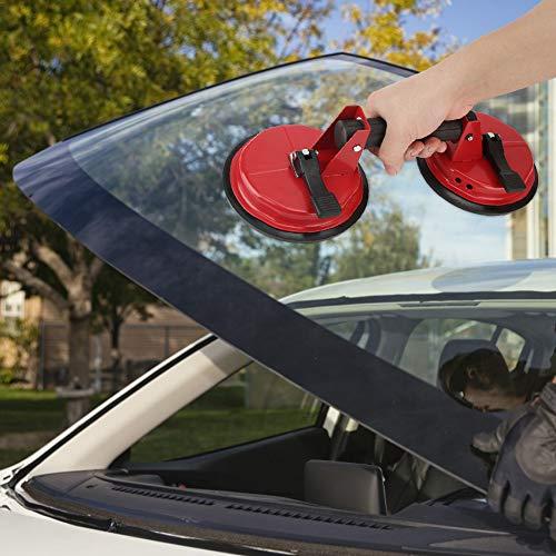 Wosune Ventosa de Vidrio de aleación de Aluminio Resistente al Desgaste de succión Vertical de 170 kg, Ventosa de Azulejos, baldosas de Ventana para Parabrisas de automóviles
