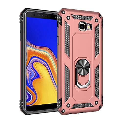 BestST Hülle für Samsung Galaxy J7 Prime/Galaxy On7 2016, 360 Grad Drehbar Ringhalter mit Magnetischer Handyhalter Auto Handyhülle für Samsung Galaxy J7 Prime /On7 2016,Rosegold
