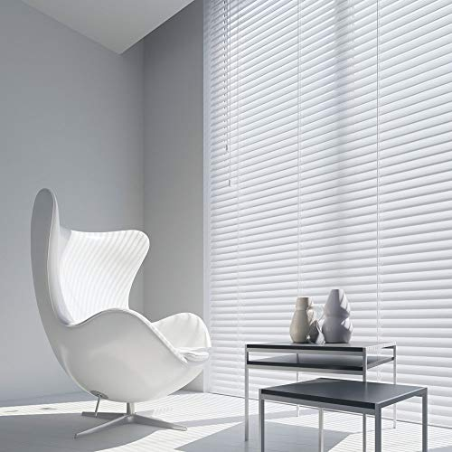 Unbeatable Blinds Columbus - Estor veneciano (50 mm, 1400 x 1200), color blanco