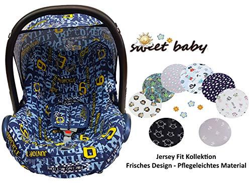 Sweet Baby - Juego completo de fundas para asiento de bebé Maxi-Cosi Cabrio, Pebble y otros azul Racer Talla:3er Komplettset