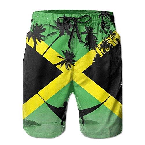 Jamaica by Other Cubed 2018 Sommer Casual Beach Shorts Hosen für Männer Jungen, Größe XL