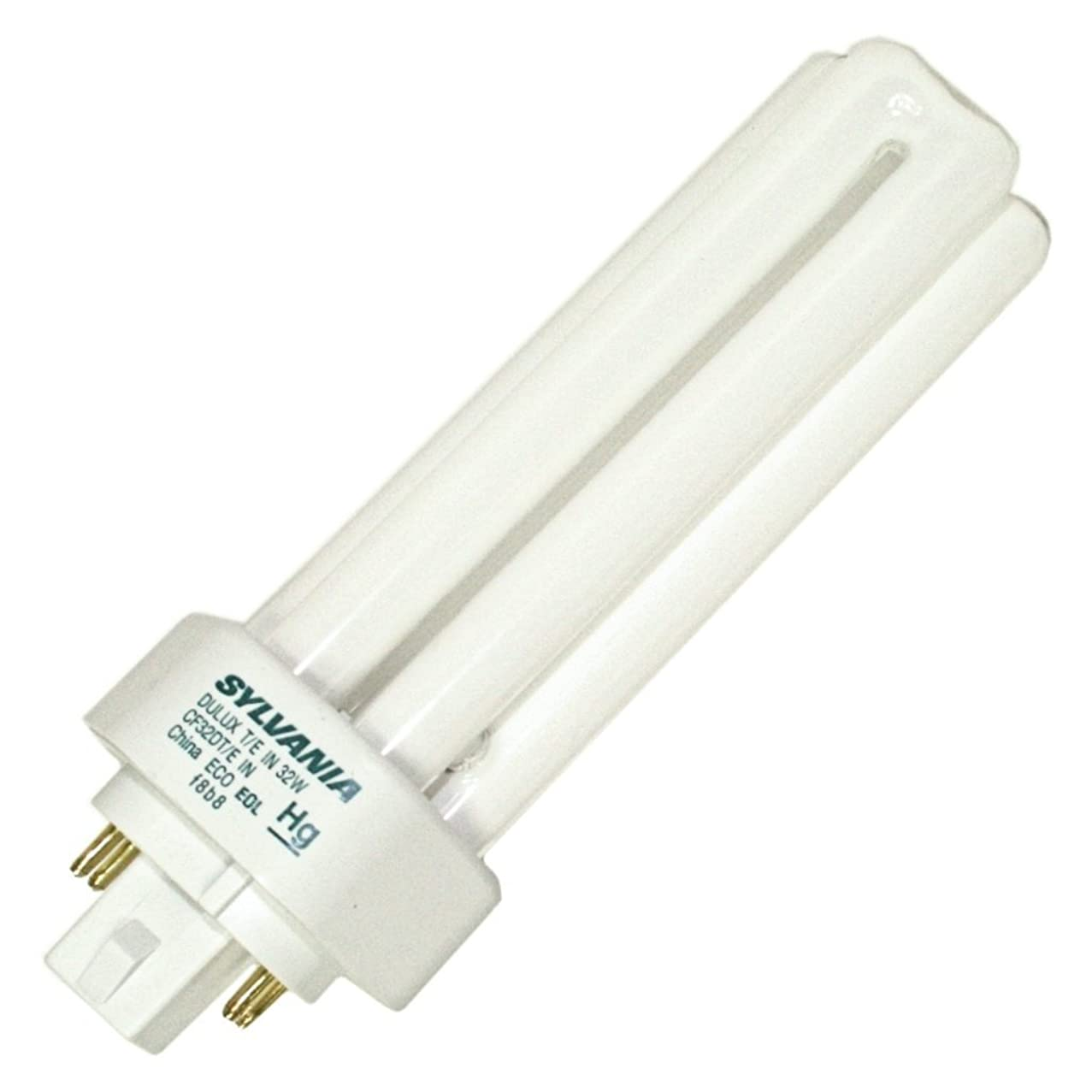 (10 Pack) Sylvania 20884 CF32DT/E/IN/830/ECO 32-Watt 3000K 4-Pin Triple Tube Compact Fluorescent Lamp