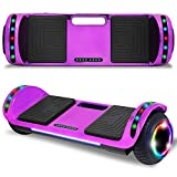 The safty certified hoverboard meets safty standards for quality charging and electrical performance. Charger included. High intensity LED headlights provide you safer ride at night, now you can ride it to anywhere at any time. The Self balancing tec...