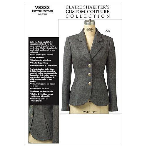 Vogue 8333 - Patrones de Costura para Confeccionar Chaquetas de señora