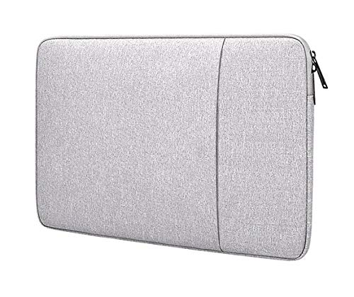 Swinno Laptop Sleeve for 13.3 inch MacBook Pro and MacBook Air, Polyester Computer Notebook Laptop Case,Waterproof Shock Resistant Tablet iPad Tab Case Bag with Accessory Pocket, Light Grey