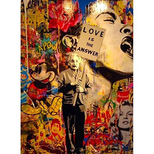 Geiqianjiumai L'amour is een canvas, decoratie voor huis, modern, abstract, kunst