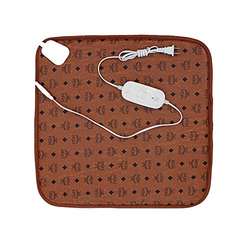 LIGHTOP Heizteppich Thermisches Teppich Pad-Schreibtisch Heizmatte Beheizter 3-Gang-Steuerung 44 * 44cm 20W