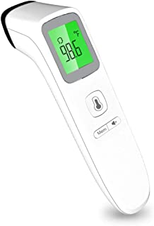 No-Touch Infrared Forehead Thermometer, Digital Medical Thermometers for Baby, Kids and Adults, Non-Contact Temporal Thermometer with Fast Accurate Reading, Fever Alarm and Memory Function
