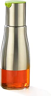 W·Z 11oz Stainless Steel Glass Olive Oil Dispenser, 320ml Vinegar and Soy Sauce bottle for Kitchen (KA10033)