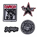 Set of 4 Punk Groups Sew On Patches, Multicoloured, Various
