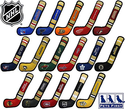 NHL LAS Vegas Golden Knights Stick Toy for Dogs & Cats. Play Hockey with Your Pet with This Licensed Dog Tough Toy Reward!