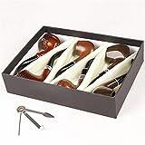 Pipes à Tabac en Sculpté à la Main Pipe en bois pour Un ensemble de six ensembles de coffrets cadeaux, A
