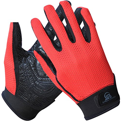 DXG&FX Outdoor-Klettern Handschuhe Anti-Rutsch-Handschuhe Atmungsaktiv Sonne Sporthandschuhe Mesh Gummihandschuhe-D M