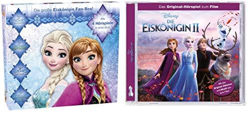 4 CDs - Disney - Die Eiskönigin - Fanbox (Eiskönigin1 + Olaf taut auf! + Zauber der Polarlichter + Partyfieber) + Eiskönigin 2 im Set - Deutsche Originalware [4 CDs]