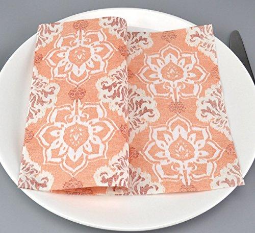 100 Stück Servietten Muskat APRICOT Papierservietten 40 x 40 cm (0,19€/Stück) Gemustert Tissue Papier 3-lagig Tischdeko Hochzeit Herbst Dekoration Mundservietten zum Falten von FINEMARK