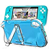 Protective Case for Nintendo Switch Lite, Light Weight Slim Clear Hard Case with Kickstand and Ergonomically Grip Designed for Nintendo Switch Lite Game