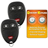 Discount Keyless Replacement Key Fob Car Remote Compatible with OUC60270, 15913420 (2 Pack)