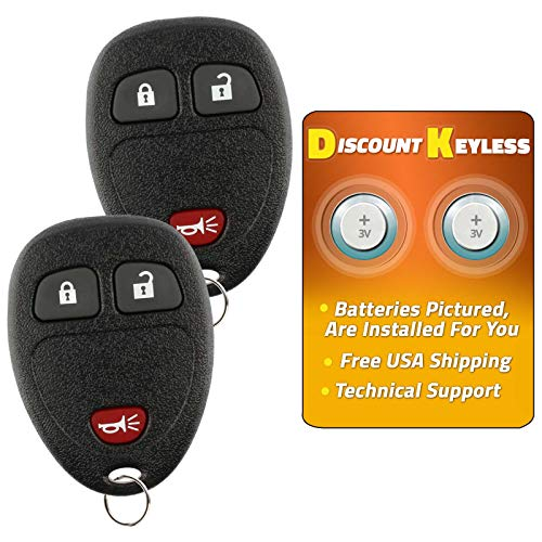 KeylessOption Keyless Entry Remote Control Car Key Fob Replacement for Cadillac SRX 12223130-50