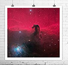Horse Head Nebula NASA Hubble Deep Space Image Reproduction Rolled Canvas Giclee Print 24x24 Inches