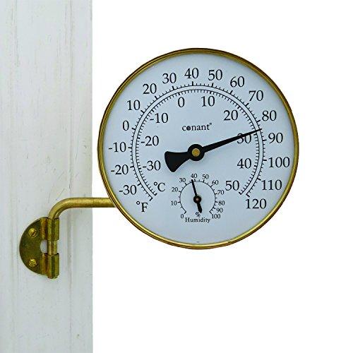 Conant TH6LFB Vermont Weather Station with Living Finish, Brass