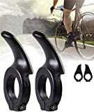 自転車 バーエンドバー 補助ハンドルバー 自転車用グリップ ハンドルバーエンド サイクリング 1ペア (ブラック)