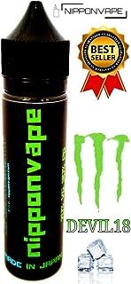 電子タバコ リキッド 60ml 【DEVIL18】(モンスターエナジー風味) 国産 NIPPONVAPE 日本製 Vapeリキッド (DEVIL18-モンスターエナジーメンソールあり, 60ML)