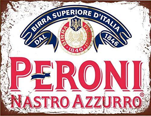 Peroni Nastro Azzurro Lager Bier Vintage Stijl Metalen Reclame Wandplaat Teken Of Ingelijst Beeld Frame,Aluminium Metalen Tekenen Tin Plaque Wandpost Voor Home Decor 12