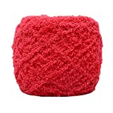 Hilo de algodón para tejer a mano, suave terciopelo coral terciopelo hecho a mano, bufanda de chal de ganchillo tejiendo ropa de ganchillo, sombreros, zapatos, bufandas, mantas, cojines (20 sandías)