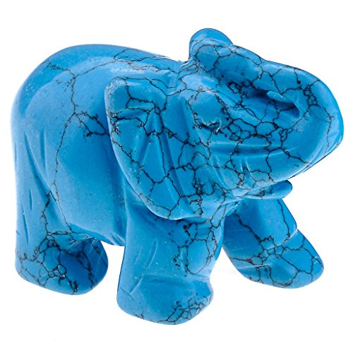 Jovivi Décoration, Reiki Pierre Précieuse cristal figurine éléphant ornements animaux plastique Décoration Ma ? E emballage : 50 x 25 x 36 mm, avec boîte Art déco
