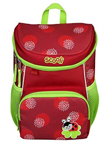 Scooli Mini-Me Kindergartenrucksack - ergonomischer Rucksack für Kinder, mit abnehmbahren Brustgurt, 8l, für Mädchen und Jungen (rot)